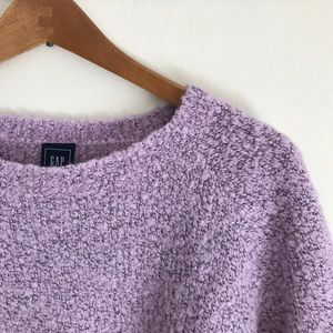 Lavender Boucle Crew Neck Sweater by GAP