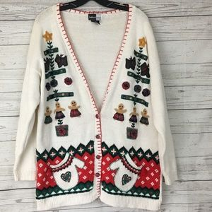 Vintage ugly christmas sweater gingerbread