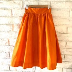 J.Crew Silk Pleated Skirt