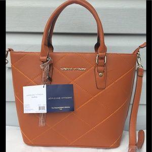 Adrienne Vittadini Leather Tote Bag