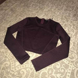 ZARA Burgundy Top