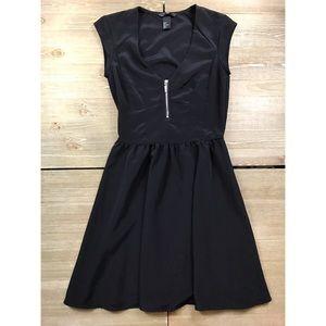 H&M Black Zipper Front Dress
