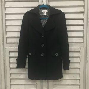Nine West black pea coat. Size small.