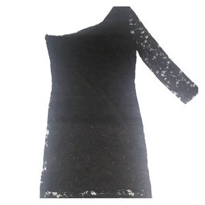 Guess Black Lace Dress