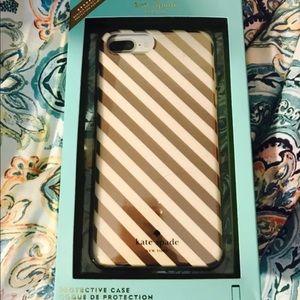 Kate spade gold / rose gold phone case iPhone 7+