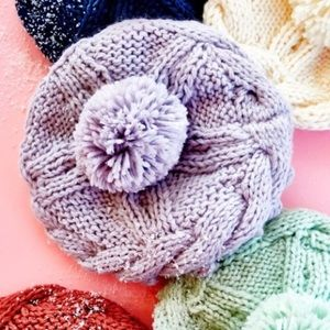 Free People lilac beanie