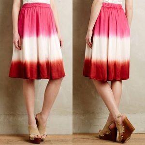 Maeve Anthropologie Levana Ombre Tye Dye Skirt