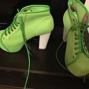 Neon green Jeffrey Campbell Heels