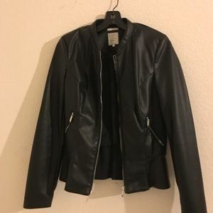 ZARA bomber leather jacket