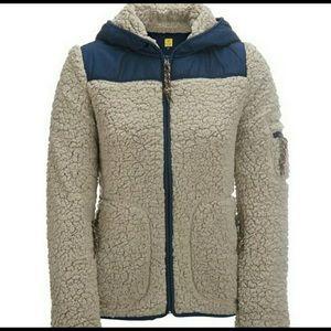 NEW Aeropostale prince & fox bear fleece jacket