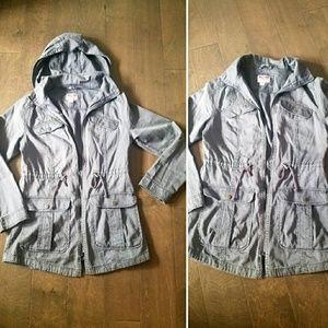 Mossimo Grey-blue hooded fall jacket