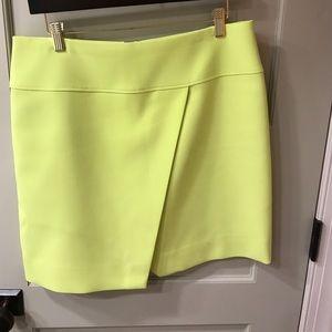 J Crew Skirt size 10. Citron. Sexy slit.