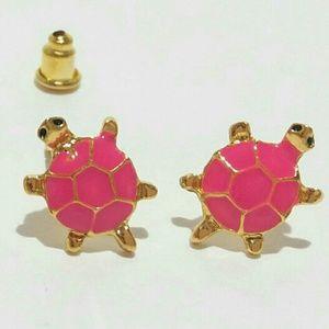 Gold Turtle Studs