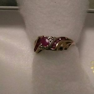 Other - 10k gold Ruby and diamond ring