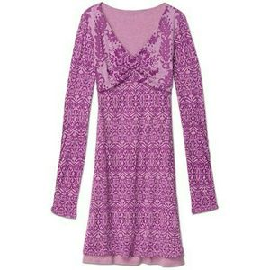 Athleta Hot Creek Dress - Purple velvet