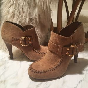 Tory Burch suede heeled booties