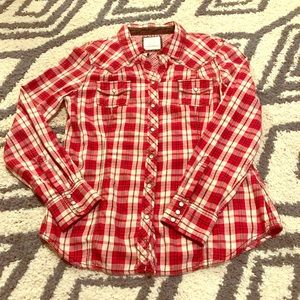 Flannel Pearl Snap Button Up