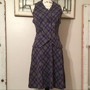 Vintage 60s Koret Plaid Dress