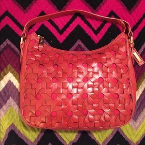 Cole Haan Red Woven Shoulder Bag