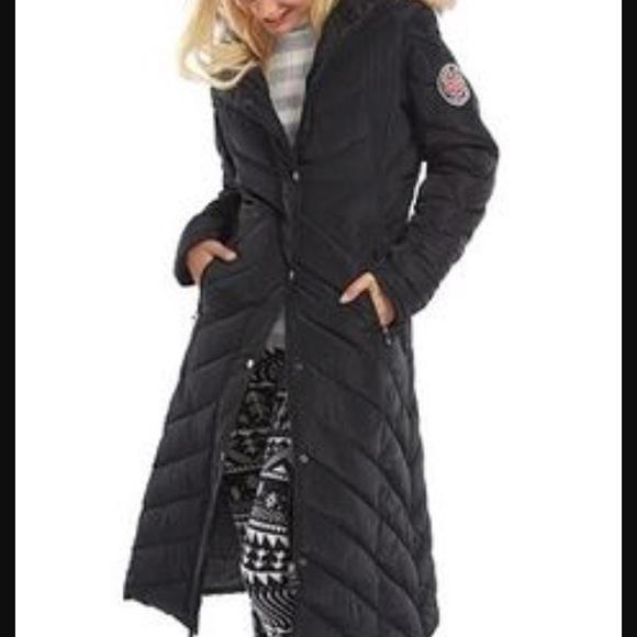 Madden girl long black coat