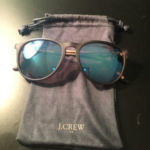J crew blue mirrored sunglasses