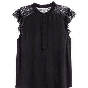 NWOT H&M Lace Sleeve Blouse