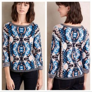 Anthro Moth Cabine Knit Sweater Sz Large