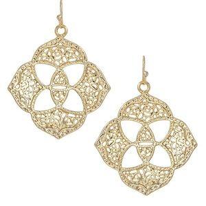 Kendra Scott Gold Dawn Medallion Dangle Earrings