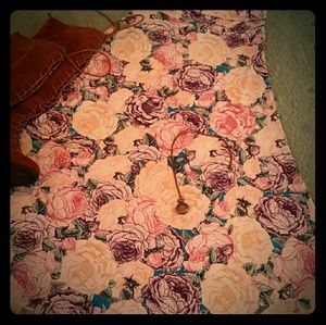 Lularoe Roses Maxi Skirt Size XS