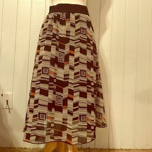 LuLaRoe geometric design size small skirt