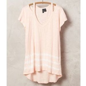 Anthropologie Left of Center pink headlands tee