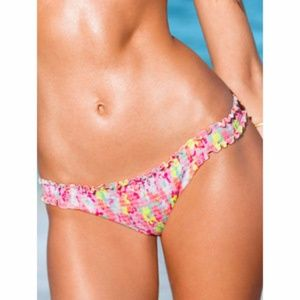 RARE Victoria's Secret Ruffle Cheeky bikini bottom