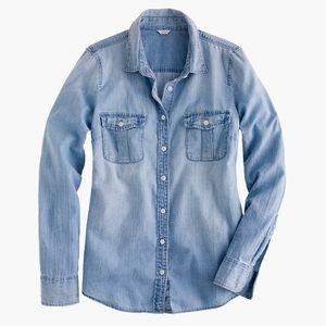 J. Crew Keeper Chambray Denim Long Sleeve Shirt 4