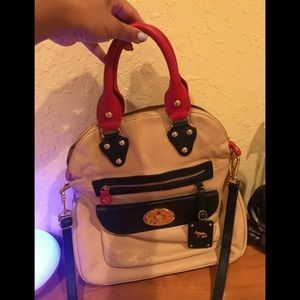 Emma Fox tri color fold over purse