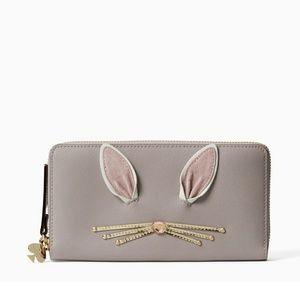 NEW! Kate Spade Hop to it Rabbit Neda Wallet