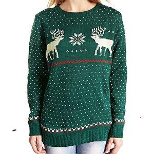 NWT Green Reindeer Sweater