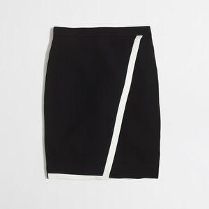 J. Crew tipped crepe wrap skirt
