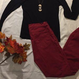J Brand skinny leg black cherry 🍒