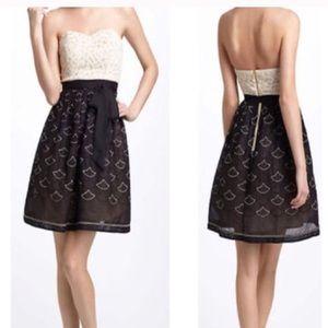 Meadow Rue Anthropologie Strapless Dress