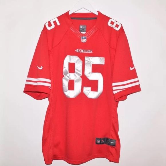 Nike NFL SF 49ers Vernon Davis On Field Jersey. M 59eab9a2bcd4a767fe024ba9 95553659a