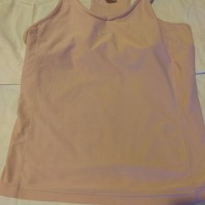 Nike dri fit pretty pink racer back XL workout top