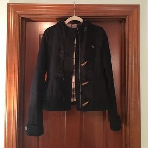 Navy Abercrombie kids pea coat