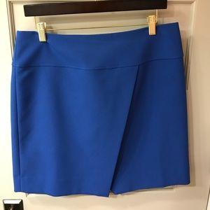 J Crew royal blue skirt. Size 10. Sexy slit.