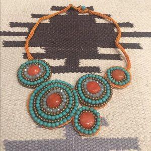 Boho Turquoise Statement Necklace