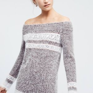 Anthropologie Faroe off the shoulder sweater