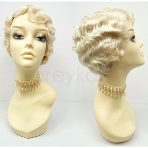 Blonde Gatsby flapper finger waves wig