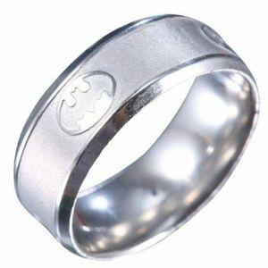 Batman stainless steel titanium ring size 13