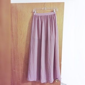 Topshop Dusty Pink Maxi Skirt