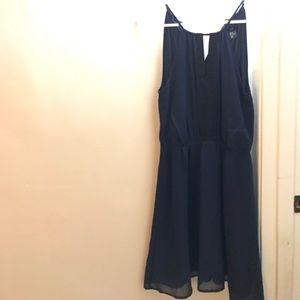 Dark Blue and Black Dress
