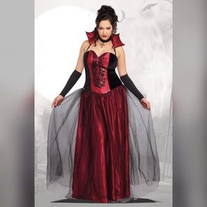 Plus Size Bloody Beautiful Vampire Costume 3x/4x